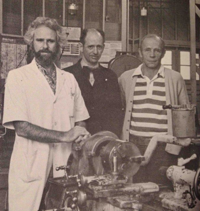 Three of my Industrial Arts teachers at Palo Alto from 1976-1980, from left to right, Bud Jamison (Architecture), O.D. Mitchell (Auto Shop), and Bob Hoskins (Metal/Algebra/Geometry). All of my teachers were great, but Mr.Mitchell was my favorite through 4 years of Auto Shop. Photo is from my 1979, Junior year, Yearbook.