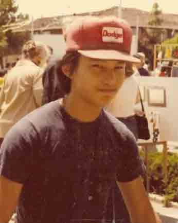 The Dodge Kid in his youth about 1976. I think I wore this hat everyday through my Freshman year in high school. Photo by Nick Yee