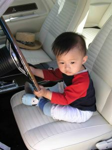 Here's my son in one of my Challengers when he was small enough to carry like a football