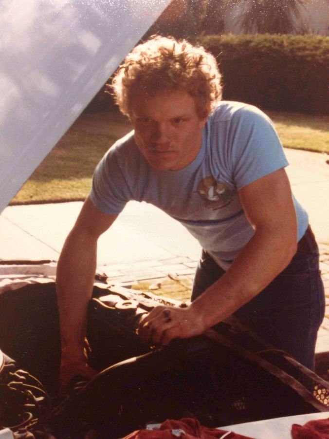 This early 1980's photo is of Scott Douglas, the Ford Expert, part of a triad friendship along with Rick Elliot, the Chevy Expert. When I had my Mustang, Scott was always ready to help me with whatever I needed.