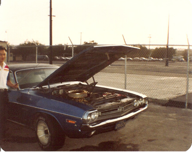 Check out the size of those mags and tires on my first car. No doubt needed to crank up that fender clearance! Taken in 1981 by my friend Mike Avery in San Diego, while we were in the Navy,